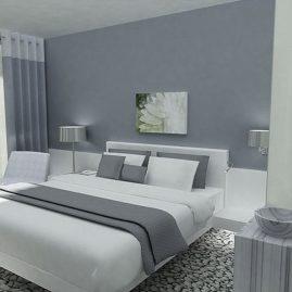 A hotel room design
