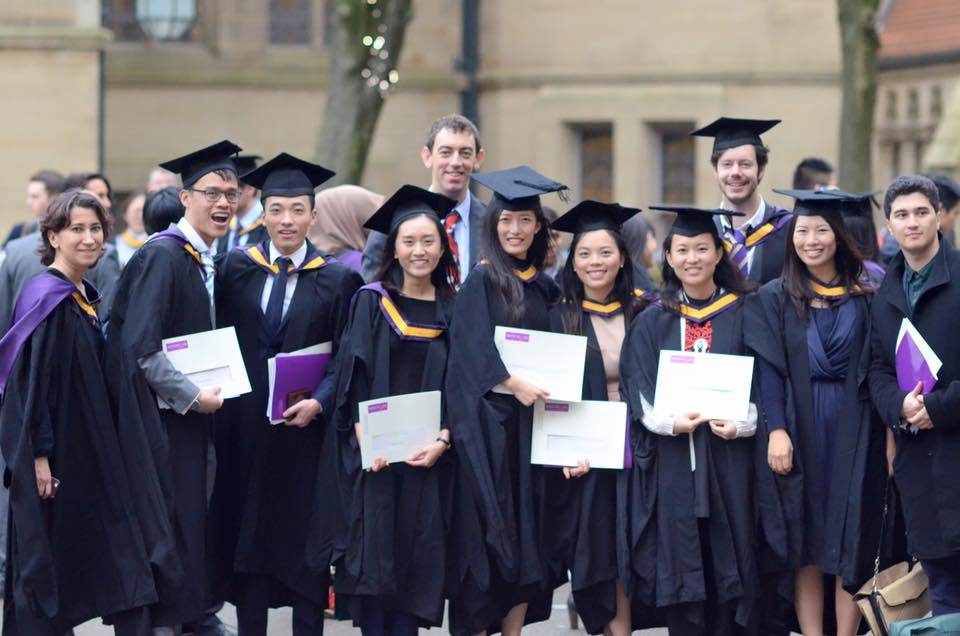 Graduation ceremony memory at Manchester University