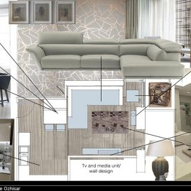 The design proposal of a living room in London