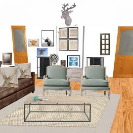 Interior design of a living room: Seating space