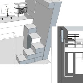 Modern bedroom design in Edinburgh